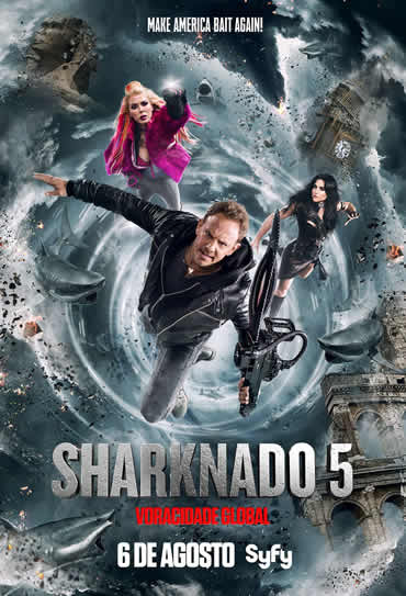 Poster do filme Sharknado 5: Voracidade Global
