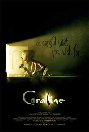 Poster do filme Coraline e o Mundo Secreto