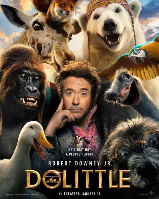 A Viagem do Dr. Dolittle ganha pôster com Robert Downey Jr.