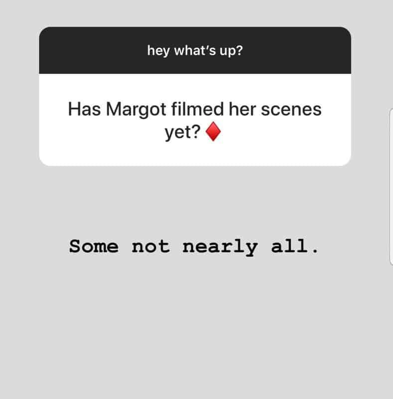 Margot Robbie já filmou algumas cenas do novo Esquadrão Suicida