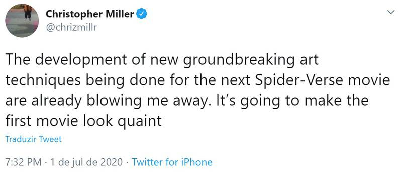 Sequência de Aranhaverso terá técnicas de animações inovadoras, promete produtor