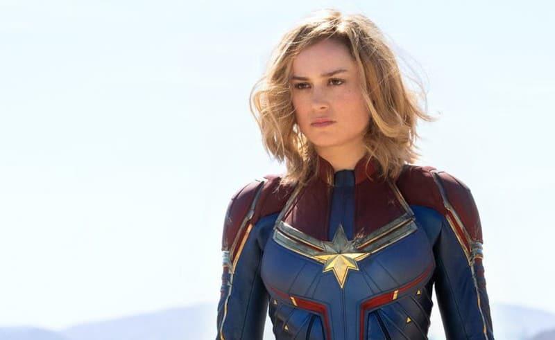Brie Larson como Capitã Marvel, no filme de mesmo nome