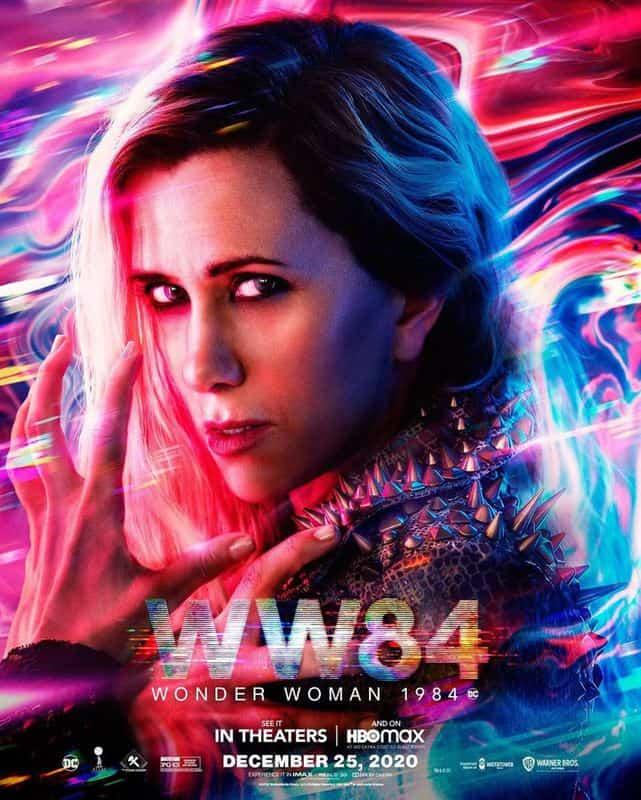 Personagem de Kristen Wiig no novo cartaz de Mulher-Maravilha 1984