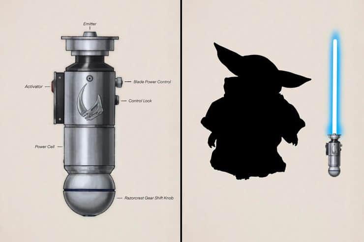 Fã imagina como seria o sabre de luz de Grogu, o Baby Yoda de The Mandalorian