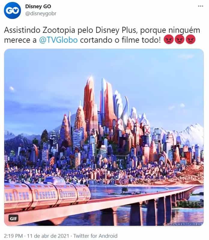Zootopia foi exibido na Globo, mas fãs reclamam de excesso de cortes