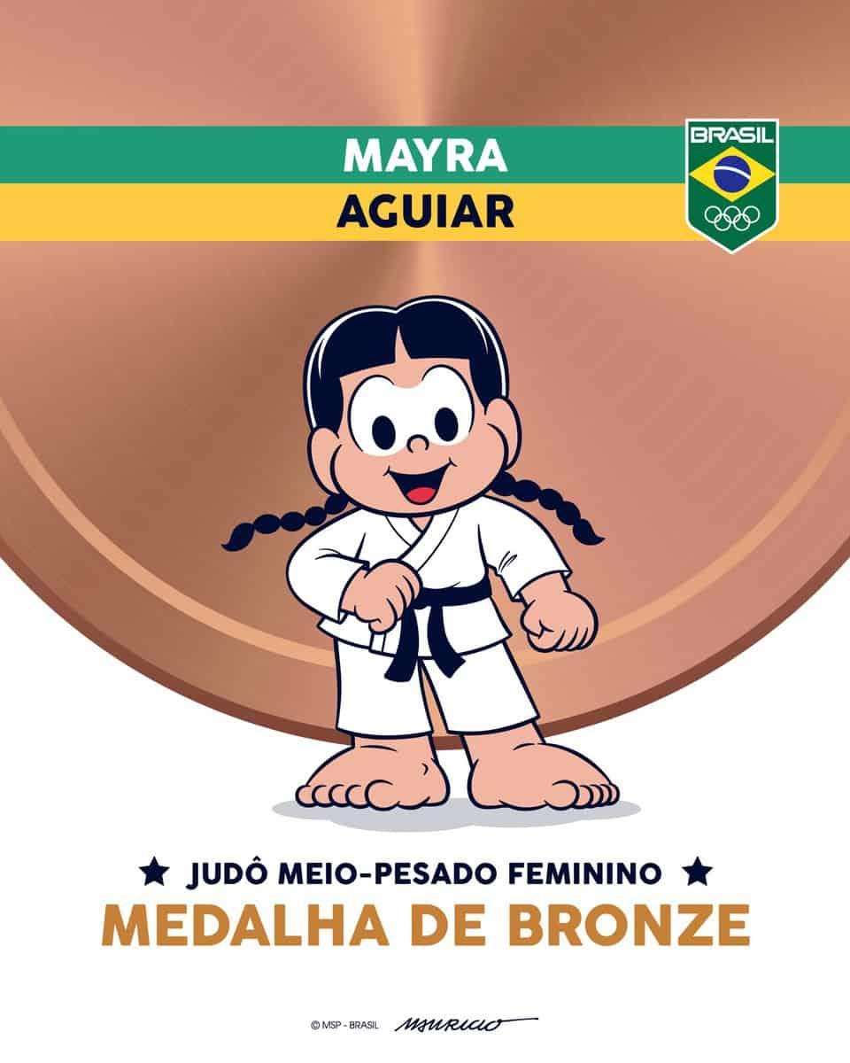 Turma da Mônica celebra Olimpíadas com artes em homenagem a atletas, confira