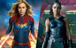 Brie Larson e Tessa Thompson aprovam romance entre suas personagens do MCU