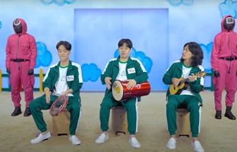 Pagode em Round 6? Grupo coreano Tell a Tale canta Péricles em vídeo para Netflix